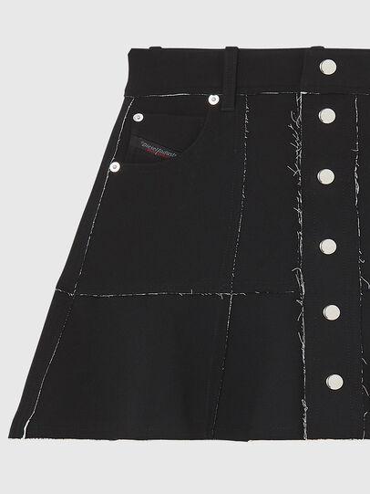 Diesel - O-BETH-B, Black - Skirts - Image 3
