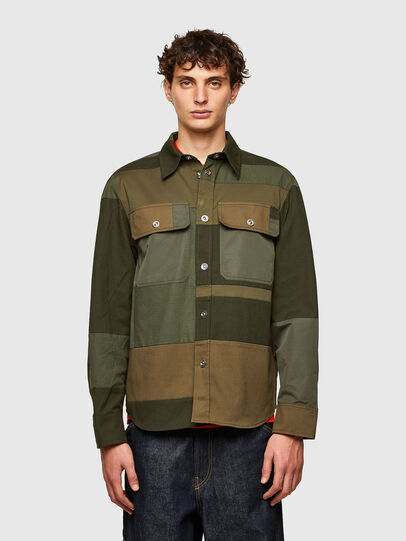 Diesel - S-HORUS, Olive Green - Shirts - Image 1