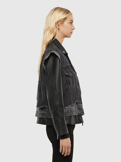 Diesel - L-KELLY, Black - Leather jackets - Image 4