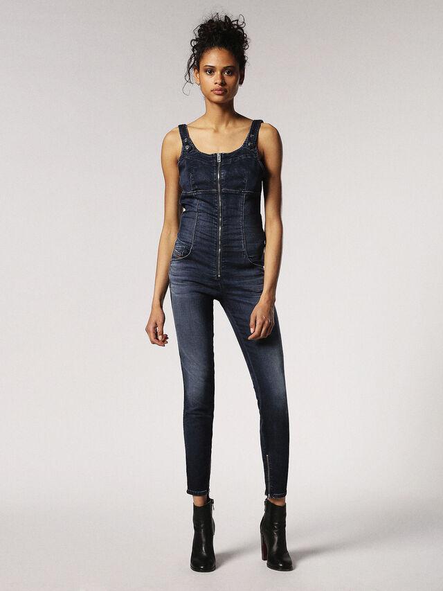 Diesel - ZEPPEL JOGGJEANS, Blue Jeans - Jumpsuits - Image 1