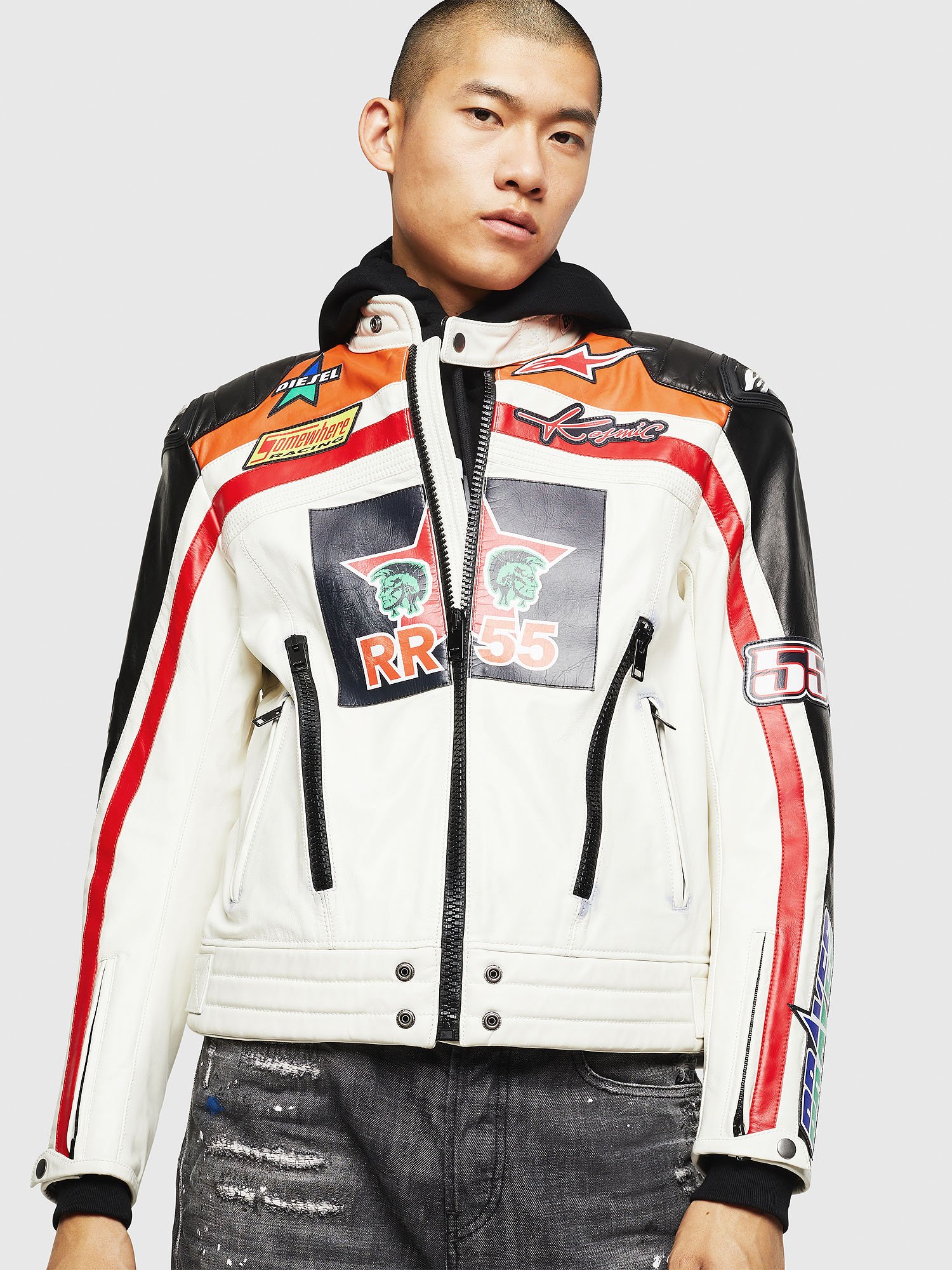 Diesel - ASTARS-LPATCH-1A,  - Leather jackets - Image 1