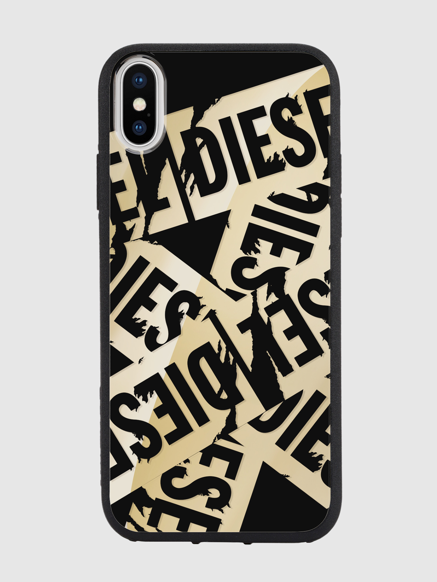 Diesel - MULTI TAPE GOLD/BLACK IPHONE X CASE,  - Cases - Image 2