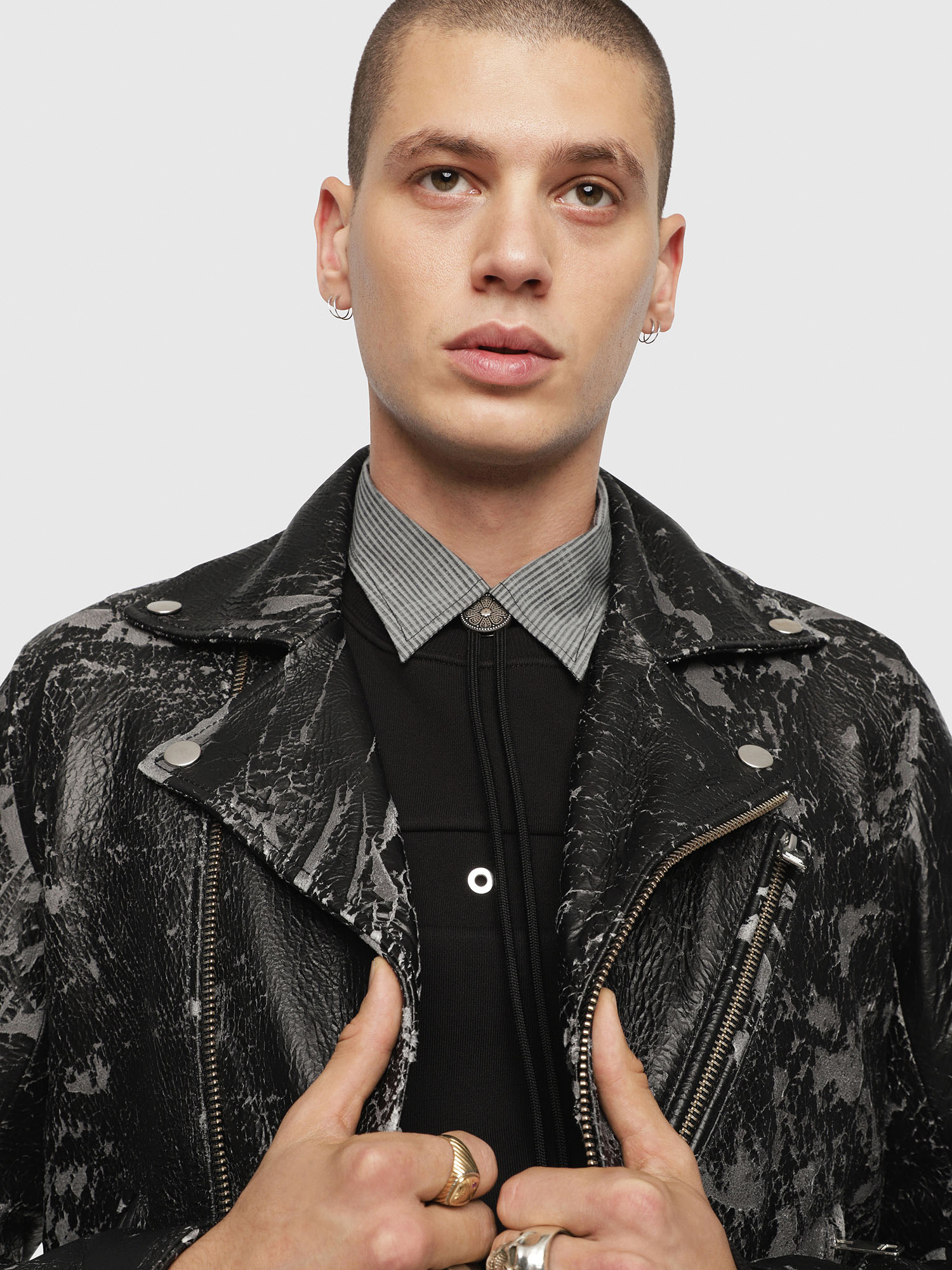 Diesel - L-KRAMPIS-A,  - Leather jackets - Image 5