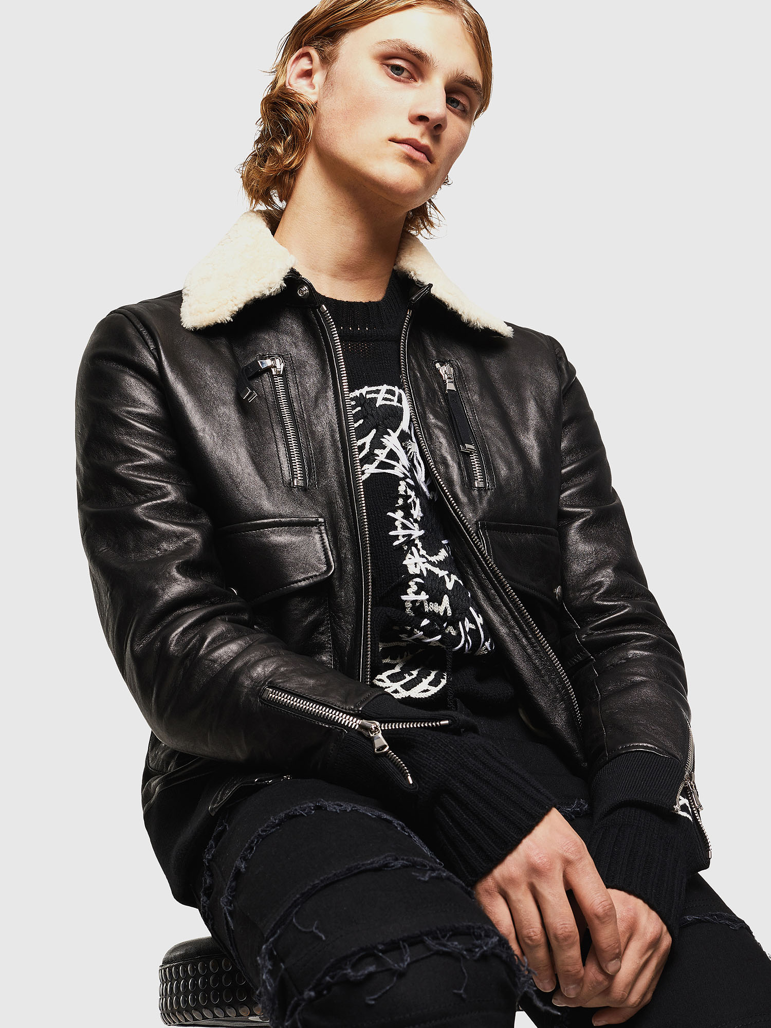 Diesel - L-VINT,  - Leather jackets - Image 4