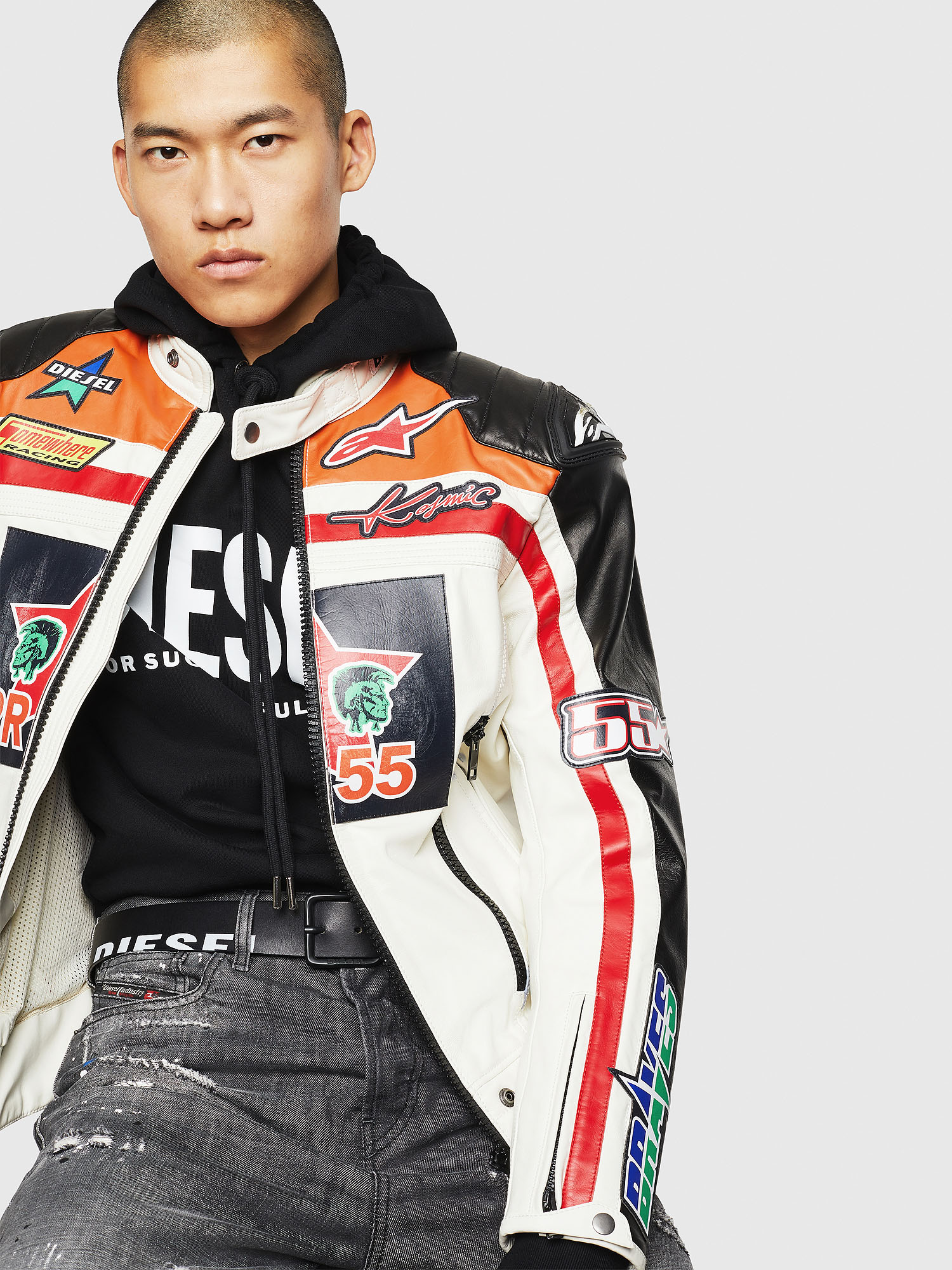 Diesel - ASTARS-LPATCH-1A,  - Leather jackets - Image 4