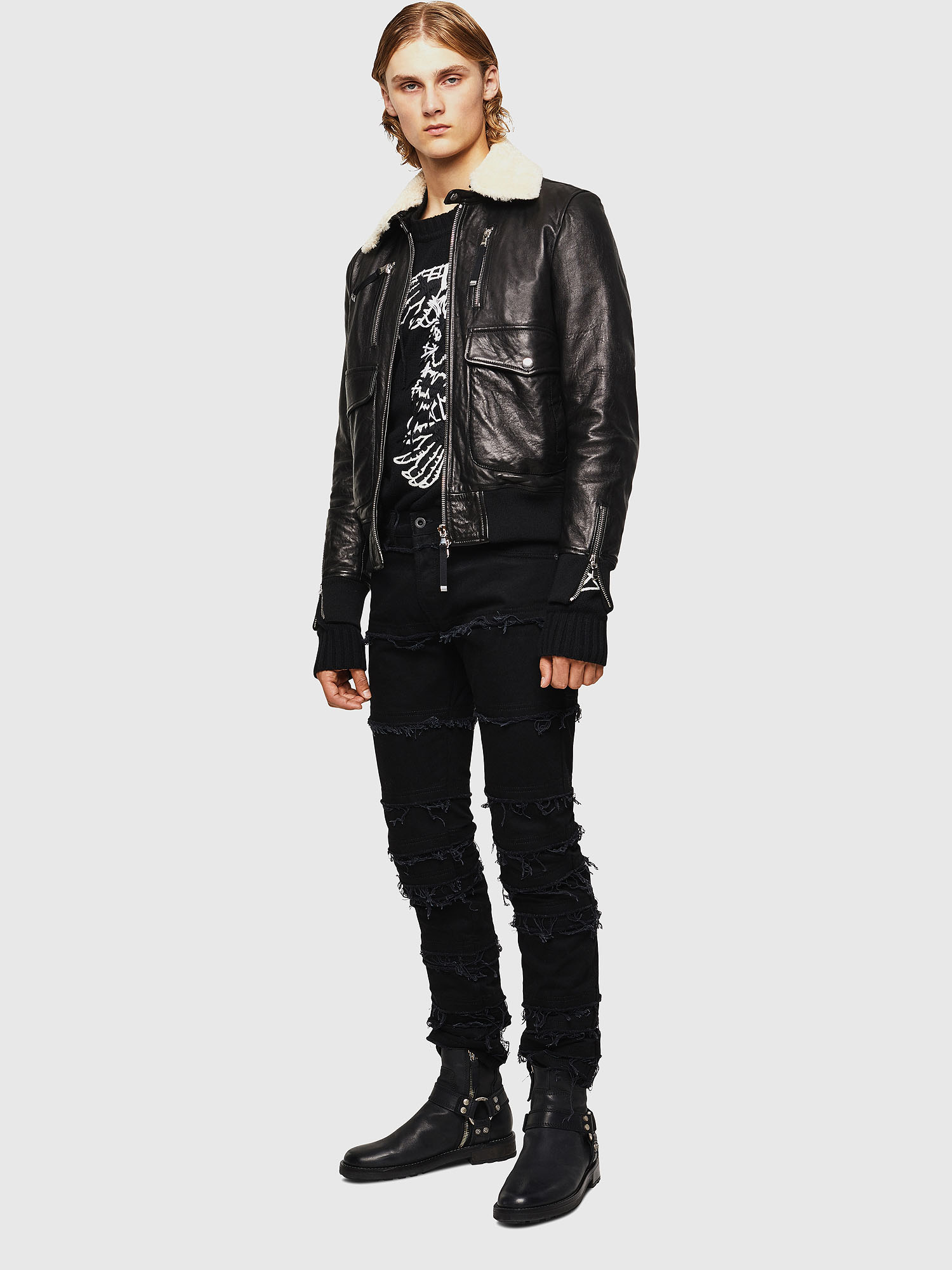 Diesel - L-VINT,  - Leather jackets - Image 6