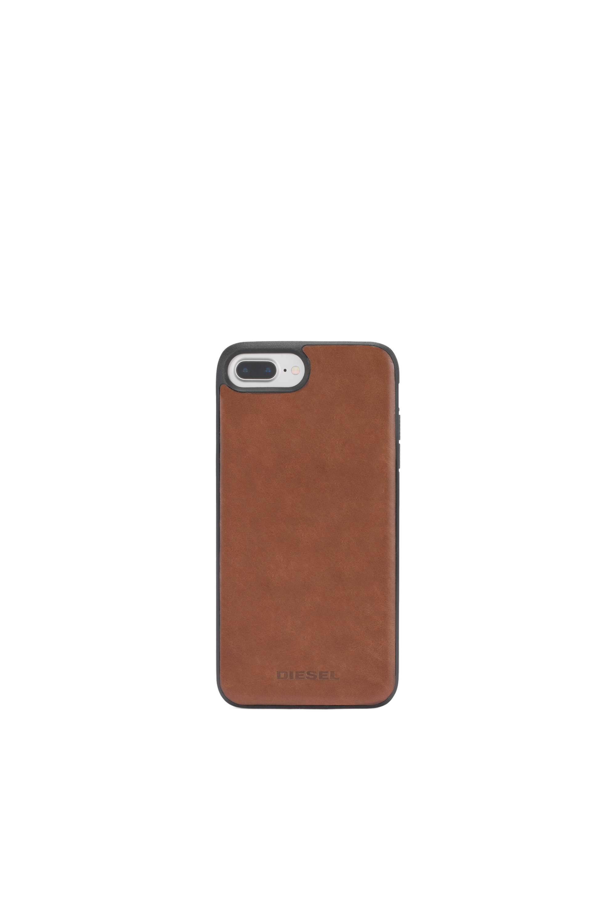 Diesel - BROWN LEATHER IPHONE X CASE,  - Cases - Image 4