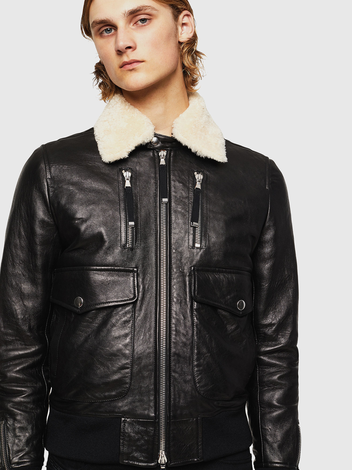 Diesel - L-VINT,  - Leather jackets - Image 1